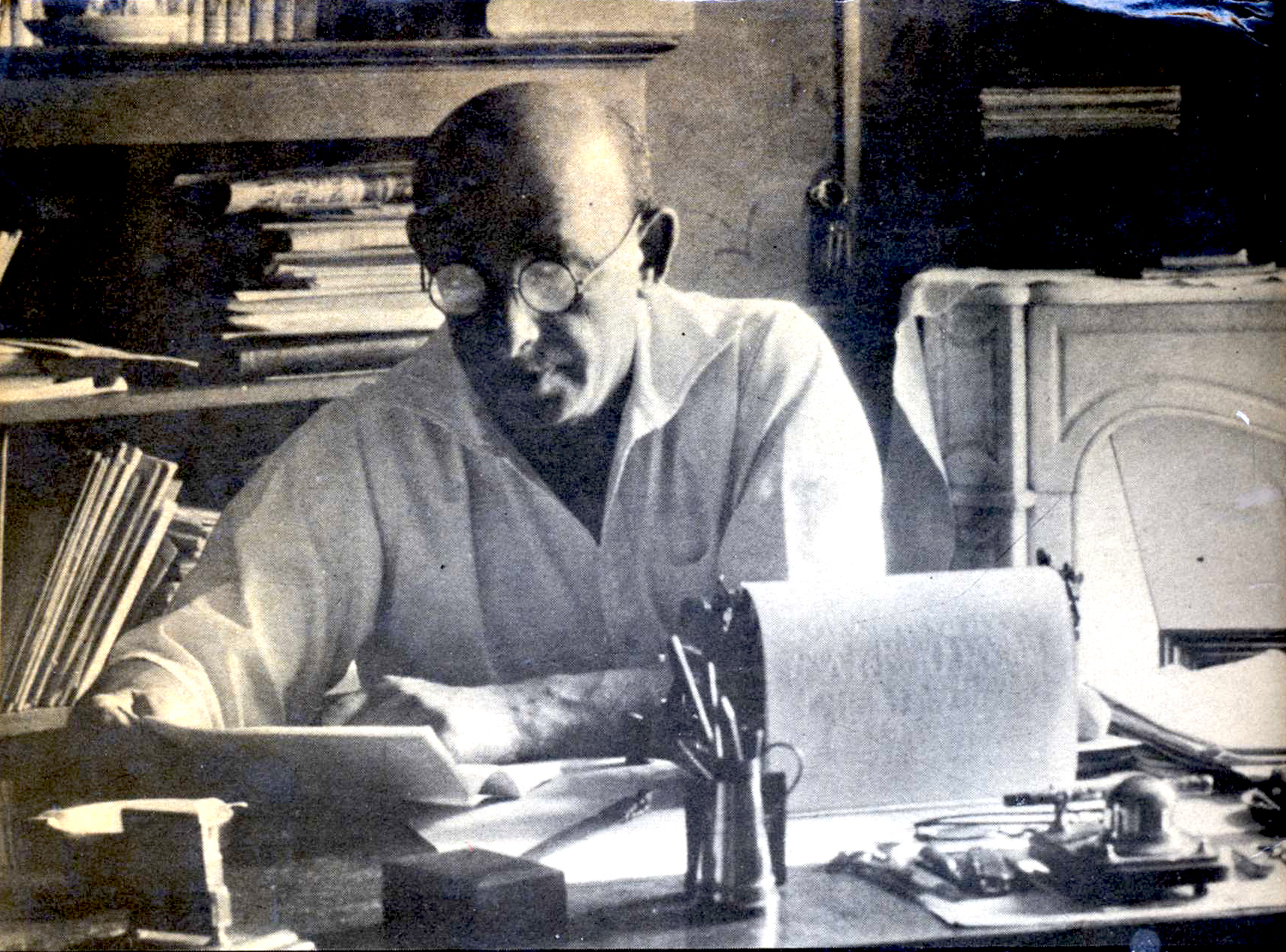 Alexander Berkman in his study in Paris
