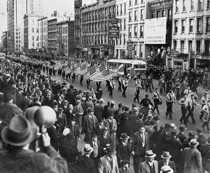 Holocaust German Am Bund March NYC 2 Hi Res